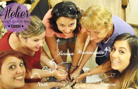 Atelier Ange à Fleur de Peau chez Lush Montpellier
