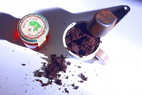 gommage, marc de café