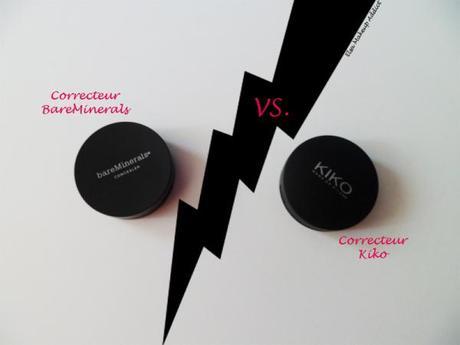 Correcteur BareMinerals vs. Kiko 1