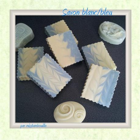 savon blanc bleu