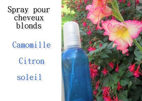 spray cheveux blonds, cheveux blonds, camomille, citron