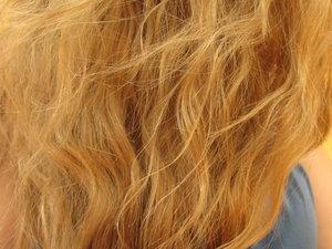 Mon blond avant utilisation du spray dessange