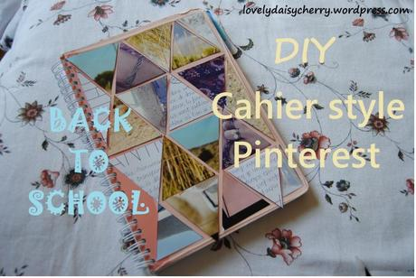 Back To School Diy Cahier Style Pinterest
