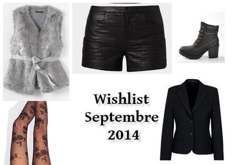 WISHLIST septembre 2014: ces  trucs que je veux !