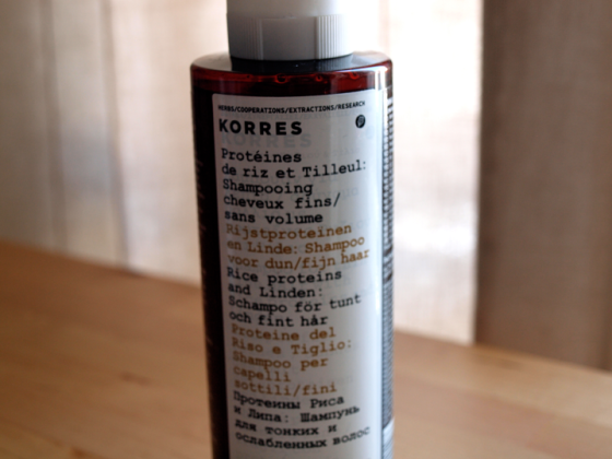 Korres shampoing et après shampoing