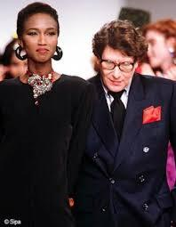 katoucha et yves saint laurent