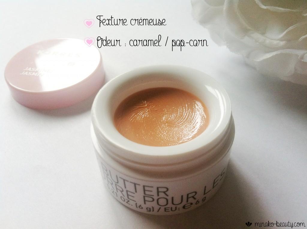 Lip butter Korres texture odeur-Minako Beauty