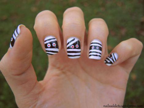 nail art facile pour halloween. Black Bedroom Furniture Sets. Home Design Ideas
