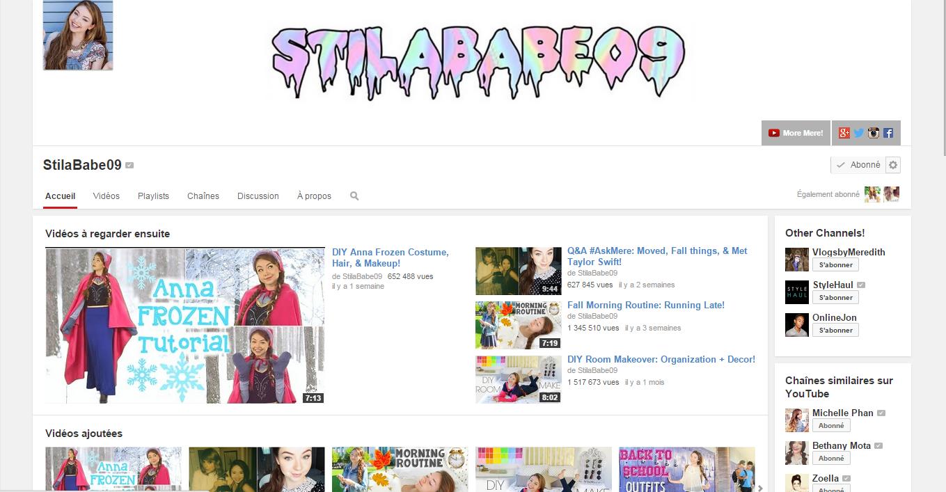 Mes YouTubeuse préférées à suivre (update) !