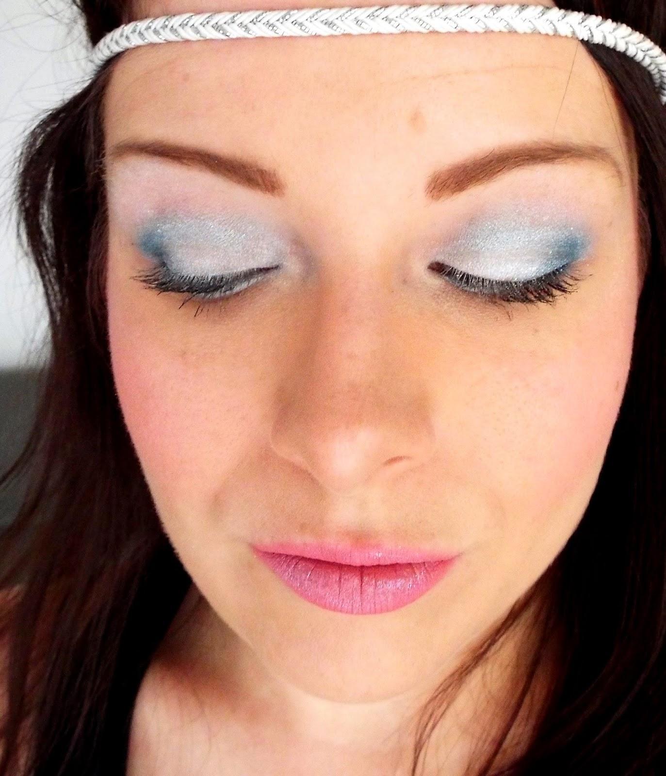 Makeup Blue Ice à l'approche de l'hiver