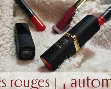Mes rouges à lèvres d'automne – hiver