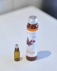 Sérum pour ongles forts - l'huile végétale et contenant