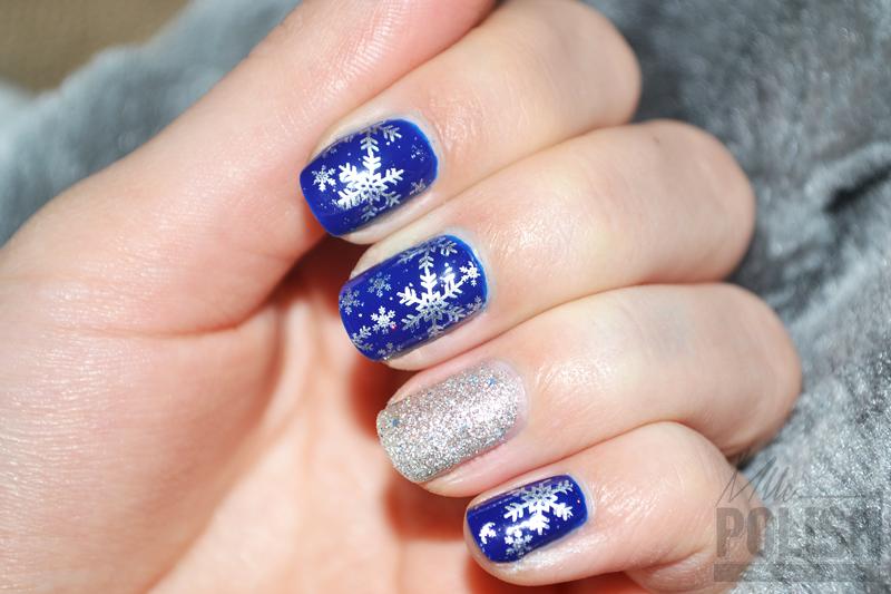 Les flocons dargent pour fêter Noël , Nail art