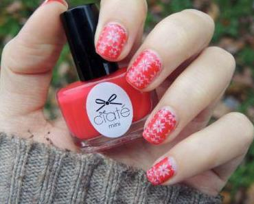 Nail art hivernal // stamping facile