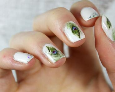 Nail art, Plume de Paon