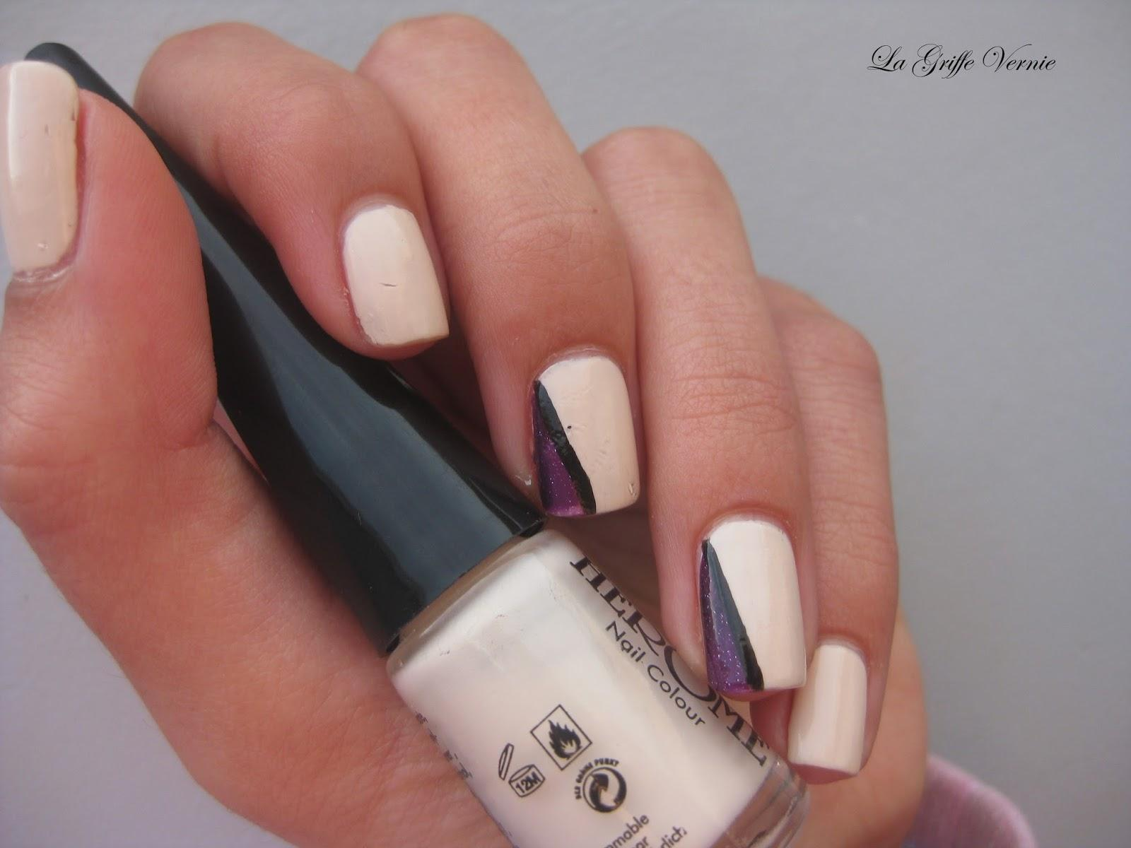 Vernis Hérôme + accent nail triangles