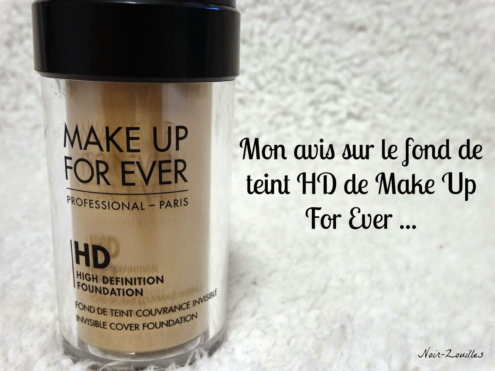 Mon avis sur le fond de teint HD de Make Up For Ever...