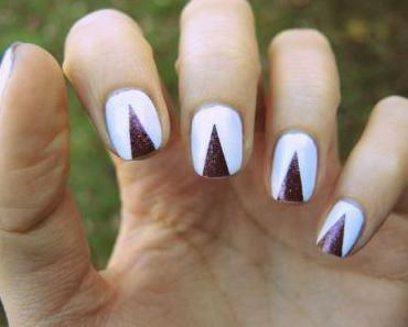 100e article et nail art triangulaire !
