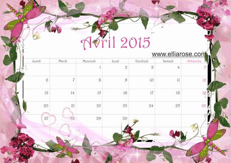 CALENDRIERS ORIGINAUX DES MOIS DE L ANNEE PAR ORDRE ALPHABETIQUE - Page 22 Calendrier-gratuit-imprimer-avril-2015-L-7Xhlyp