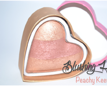 #Blushinghearts Peachy Keen Heart de Makeup Revolution