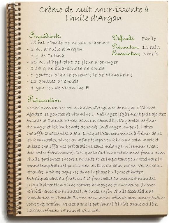 Crème de nuit nourrissante à l'huile d'argan MyCosmetik