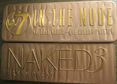 Naked 3 de Urban Decay VS In The Nude de W7
