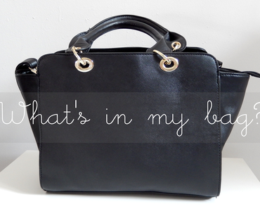 What's in my bag? {version mythe vs réalité}
