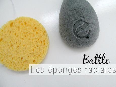 battles les éponges faciales