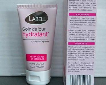 Labell et son soin de jour hydratant peaux sèches et sensibles.