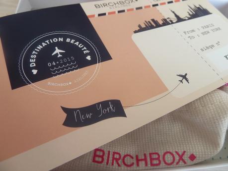 Destination beauté avec la Birchbox d'avril 2015