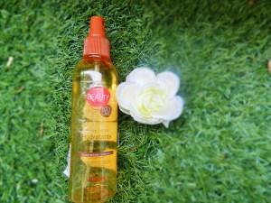 [ REVUE ] L'huile sèche Hydratante Satinante à l'huile d' Argan & Amande douce de Auchan . Peaux sèches et cheveux