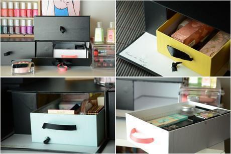 diy votre rangement makeup. Black Bedroom Furniture Sets. Home Design Ideas