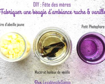 {DIY} Bougie d'ambiance ruche & vanille