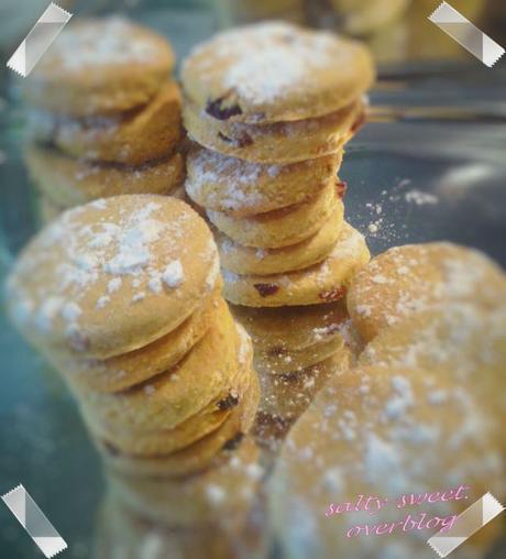 Biscuits de maïs aux raisins à l'amaretto