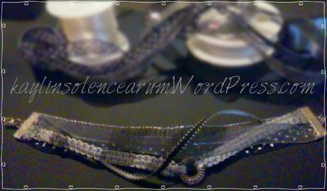 Bracelet liberty black and gray