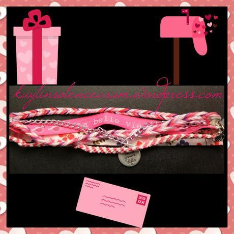 Bracelet  Liberty  » La belle vie  » en rose