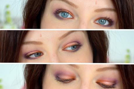 Orange purple Makeup