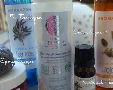 ✴Ma routine visage quotidienne pour peau acnéique 100 % naturelle + Partenariat avec Cocunat.fr ✴