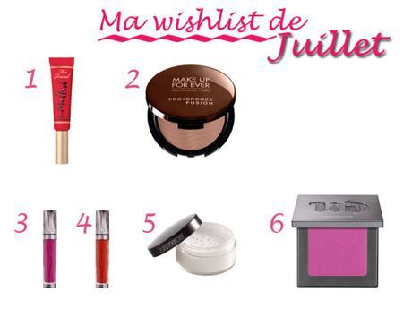 Wishlist Juillet 2015