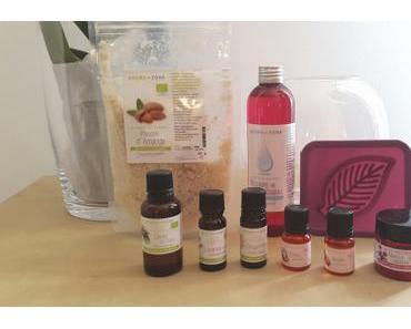 Des produits Aroma-Zone dans ma boîte aux lettres