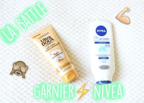 La battle des laits corps sous la douche : Nivea vs. Garnier !