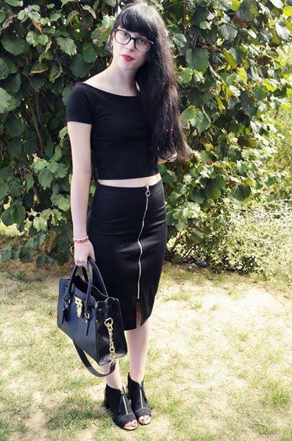 Crop top & jupe longue