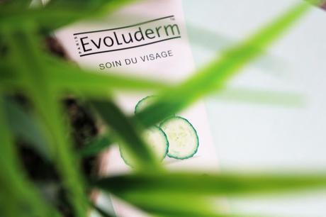Le masque doux au concombre d'Evoluderm