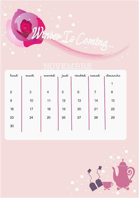 DIY Calendrier Novembre  Winter Is Coming