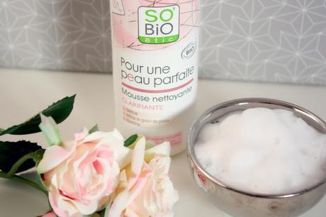 Une peau parfaite avec SO'BiO Etic & sa mousse nettoyante ❤❤❤