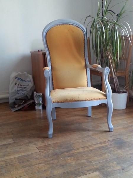 diy fauteuil voltaire avant apr s. Black Bedroom Furniture Sets. Home Design Ideas