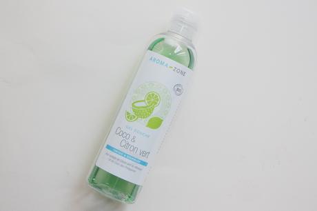 Routine corps bio : le gel douche coco & citron vert Aroma-zone