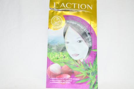 Masque visage à l'huile de riz // L'Action