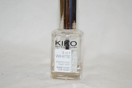 Base et Top coat 3 en 1 White // Kiko