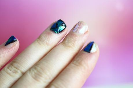 shattered glass nail art